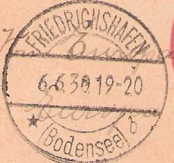 """nach - Südamerikafahrt 1930 (Rundfahrt-) Post nach Friedrichshafen"""" - Seite 7 Stempe10"""