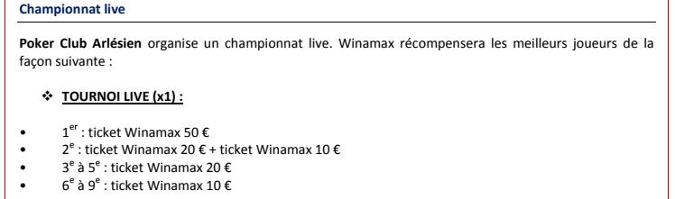 classement live winamax 2017  Dotati10