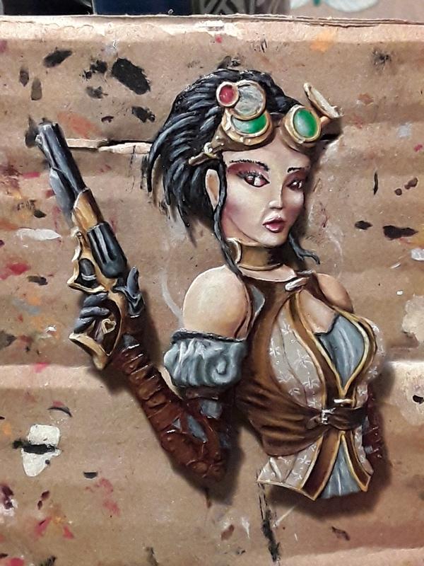 Lady Mechanica   heroine steam punk               jupiter miniatura 20180133
