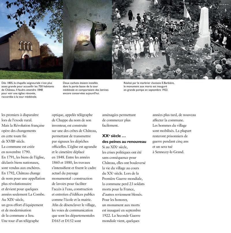 Laissez-vous conter ... le village de Château et bilan 2017 de Château Patrimoine 0710