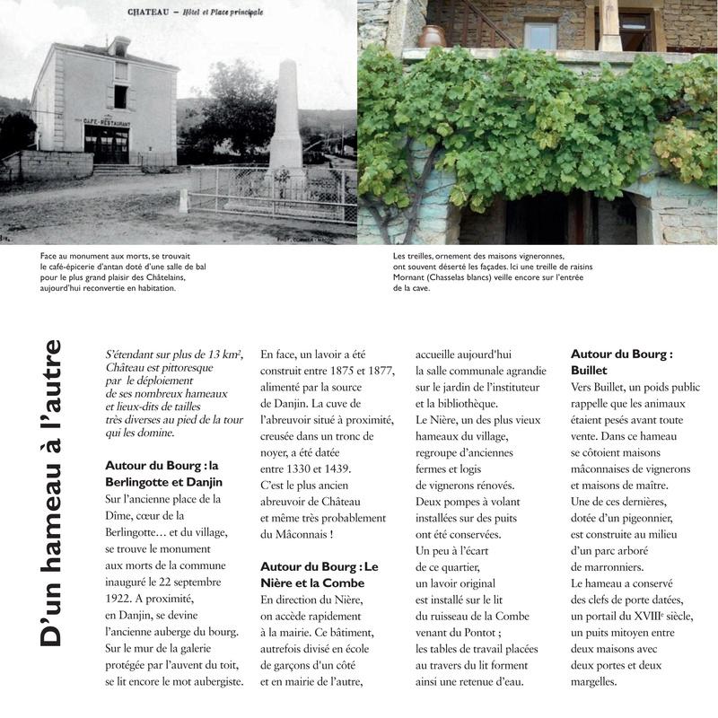 Laissez-vous conter ... le village de Château et bilan 2017 de Château Patrimoine 1110
