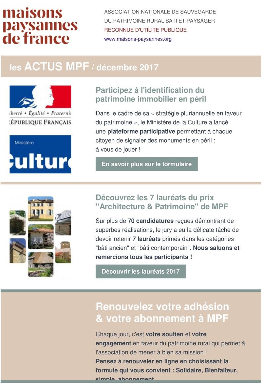 Lettre d'info Maisons Paysannes de France - décembre 2017 114