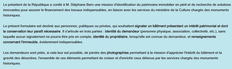 d6d0600c9bd1 Identification du patrimoine immobilier en péril - mission Stéphane BERN