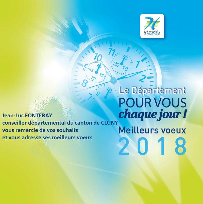 Voeux 2018 Conseiller départemental à la FAPPAH Dypart10