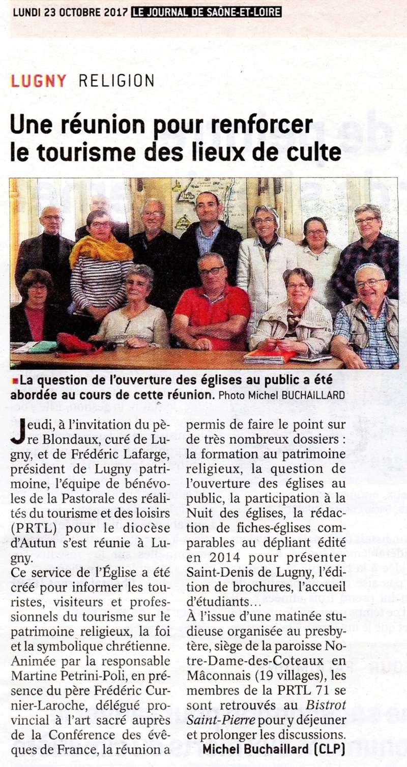 """Lugny : """"Une réunion pour renforcer le tourisme des lieux de culte"""" (Le JSL du 23.10.2017). Lugny_11"""