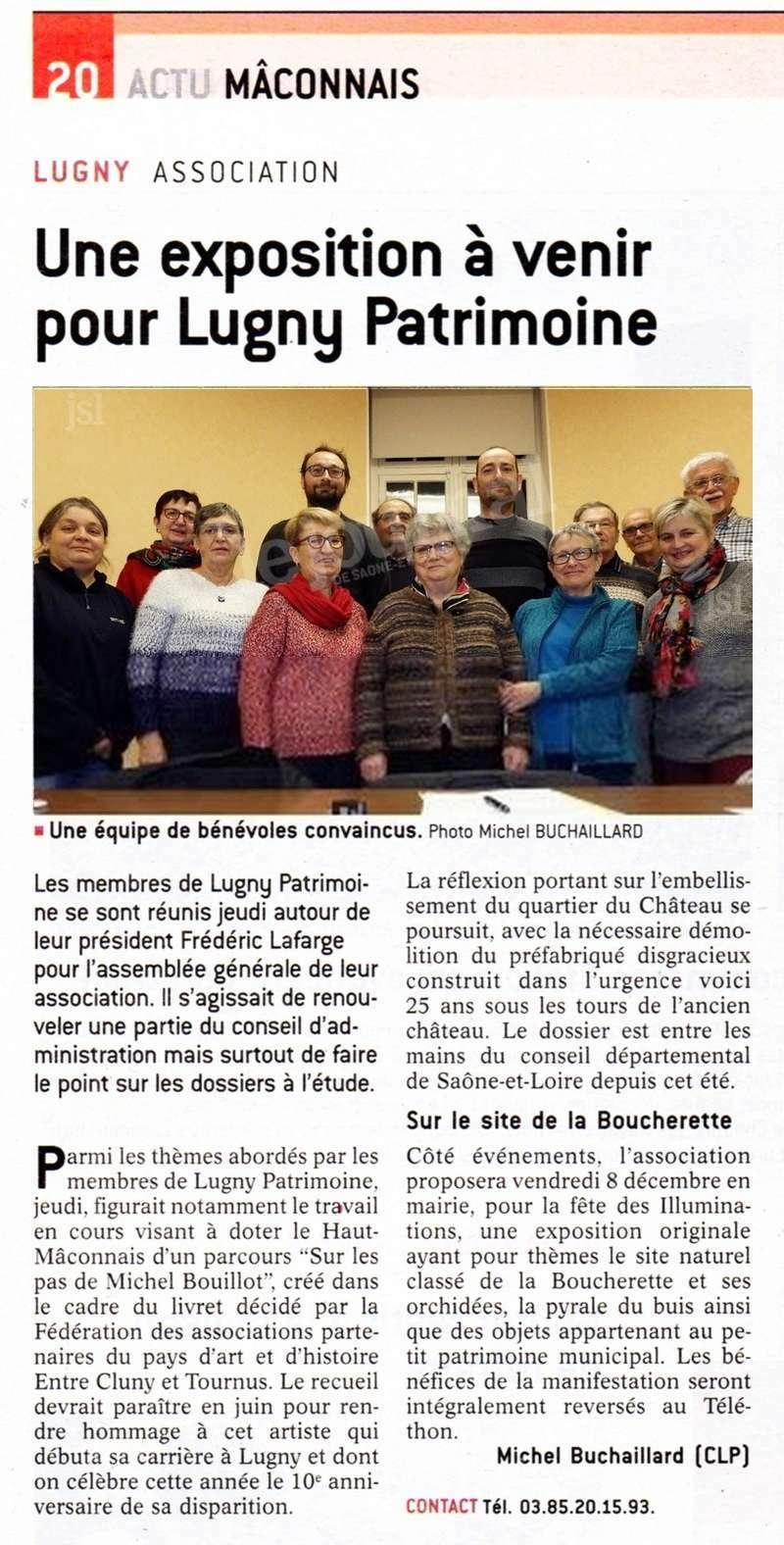 """Lugny (71) : """"Une exposition à venir pour Lugny Patrimoine"""" (""""Le JSL"""" du lundi 27 novembre 2017). Lugny_14"""