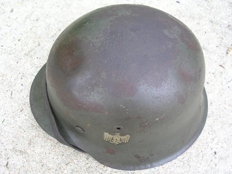 Casque m42 1 insigne Dscn5012