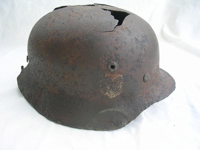 épave casque waffen de fouille Dscn7422