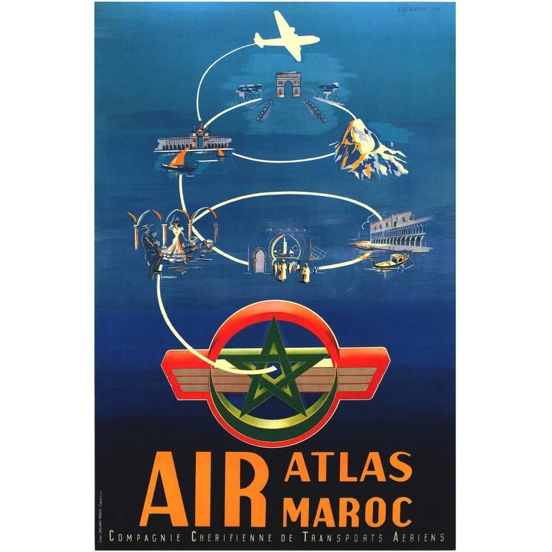 Air Atlas Air Maroc - 1953 à 1957 70c10