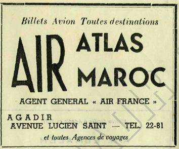 Air Atlas Air Maroc - 1953 à 1957 70h10