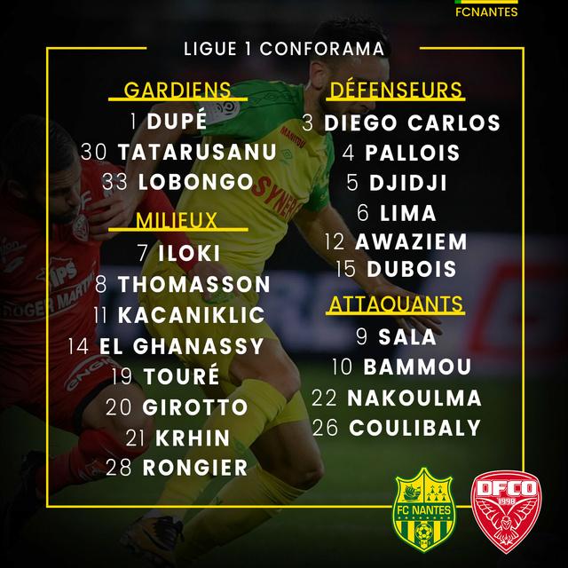 L1 J33  Samedi 14 avril 2018 - 20:00 FC Nantes / Dijon FCO P1grou16