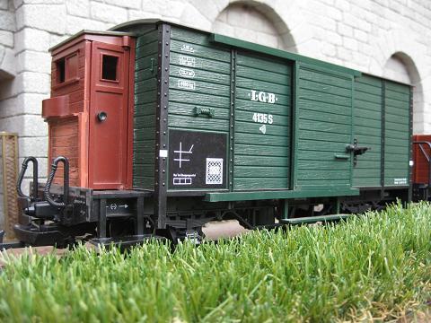 Personalització vagó 4135 de LGB (vagó tancat, amb so de loc vapor) A_912