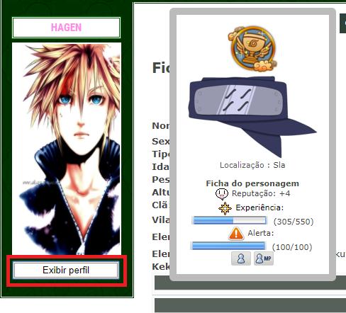 Botão exibir perfil Exibir11