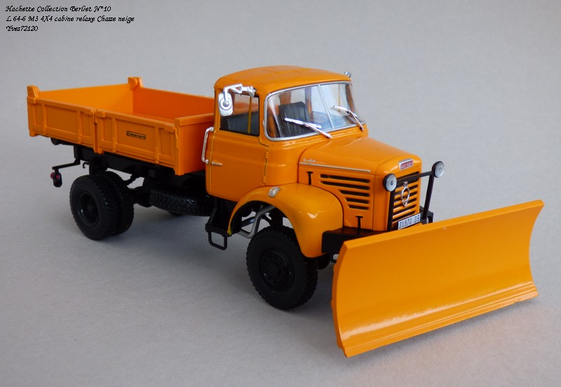 """N°10 - L 64-6 M3 4X4 cabine relaxe 1965 """"Chasse neige"""" Hache104"""