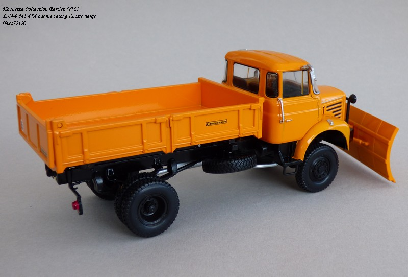 """N°10 - L 64-6 M3 4X4 cabine relaxe 1965 """"Chasse neige"""" Hache105"""