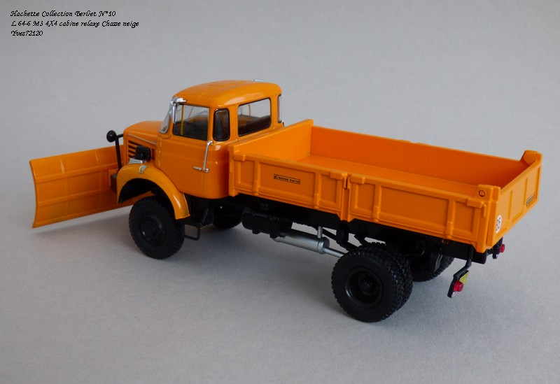 """N°10 - L 64-6 M3 4X4 cabine relaxe 1965 """"Chasse neige"""" Hache106"""