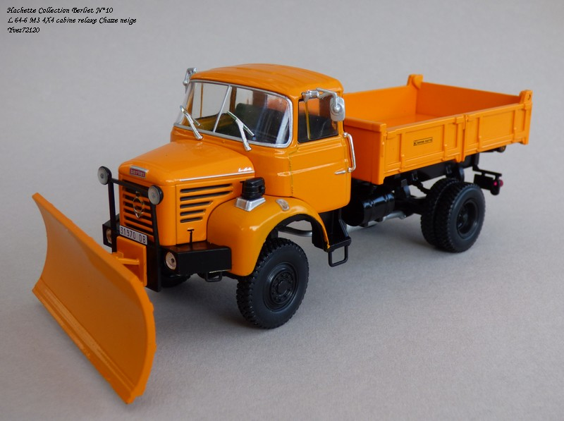 """N°10 - L 64-6 M3 4X4 cabine relaxe 1965 """"Chasse neige"""" Hache107"""