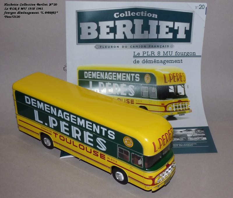 "N°20- Berliet PLR 8 MU Fourgon déménagement ""L.PERES"" 1958 / 1961 Hache132"