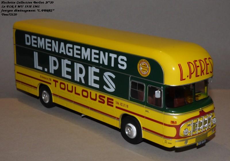 "N°20- Berliet PLR 8 MU Fourgon déménagement ""L.PERES"" 1958 / 1961 Hache133"