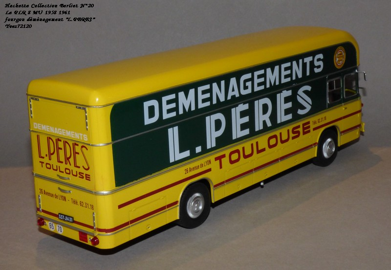 "N°20- Berliet PLR 8 MU Fourgon déménagement ""L.PERES"" 1958 / 1961 Hache134"