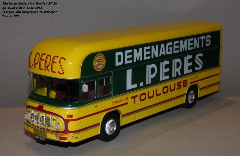 "N°20- Berliet PLR 8 MU Fourgon déménagement ""L.PERES"" 1958 / 1961 Hache136"