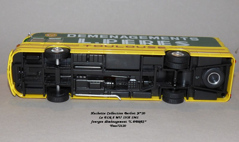 "N°20- Berliet PLR 8 MU Fourgon déménagement ""L.PERES"" 1958 / 1961 Hache137"