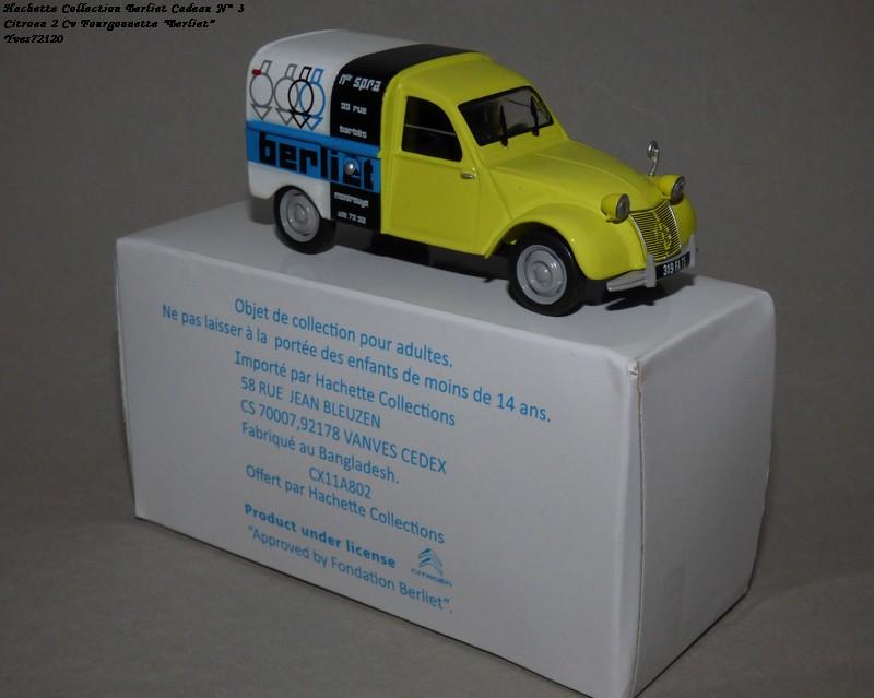 """N°00 - cadeau 4 Citroen 2cv Fourgonnette """"Berliet"""" Hachet84"""