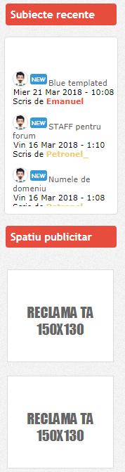 Actualizari ale forumului  Widget10