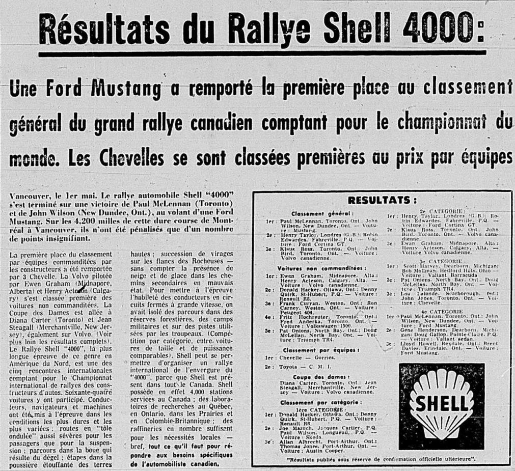 Mustang gagnante du rallye Shell 4000 de 1965 1965_011