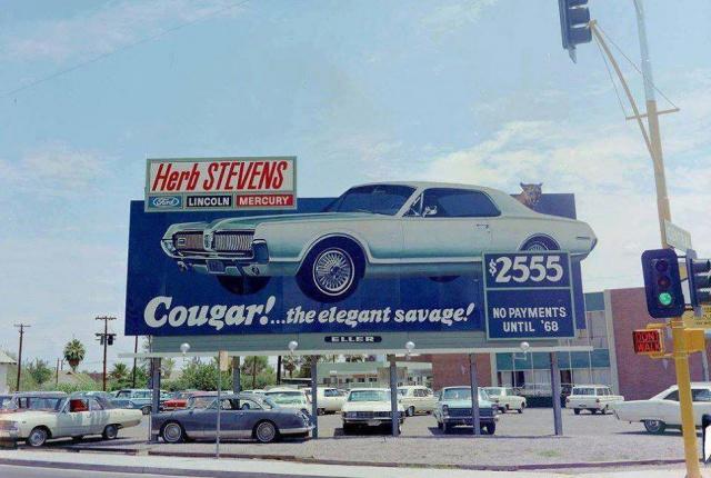 Vieille photo qui inclus des Cougar 67-73 38298110