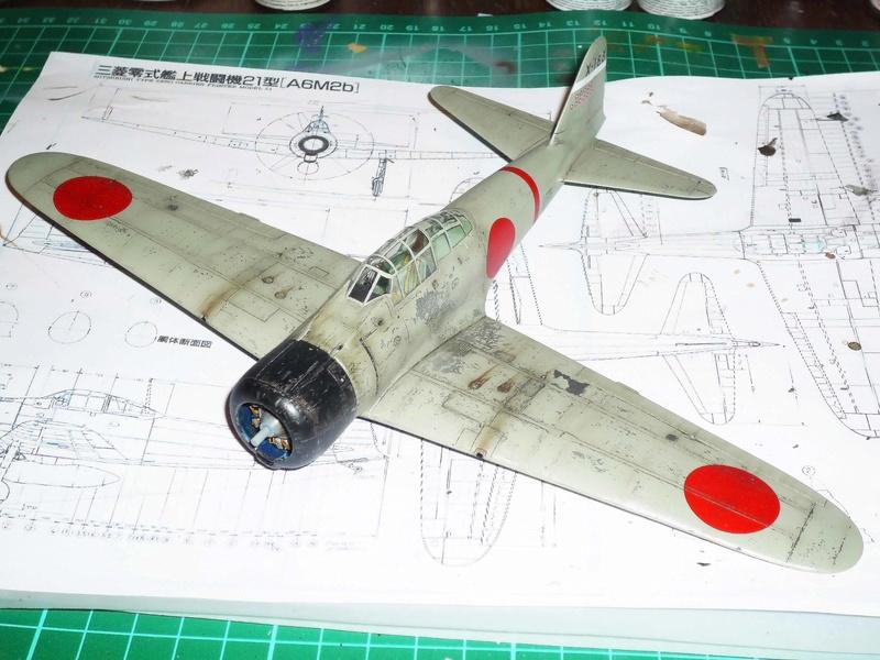 """Mitsubishi A6M Type 21 """"Zero"""" (Tamiya - 1/48) - Page 3 P1100712"""
