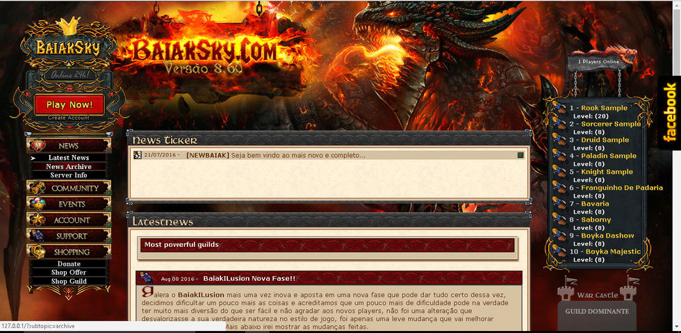 [Web] Gesior Layout Dragon NEW Gesior10
