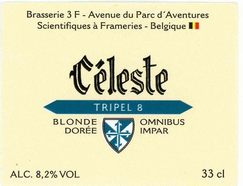 Bière Céleste brasserie 3F  Frameries Belgique Biere_12