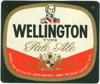 Bière Wellington  Brasserie Union Jumet avec liège Belgique Wellin11