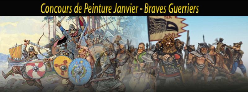 CONCOURS DE PEINTURE - Janvier: Braves Guerriers Concou12
