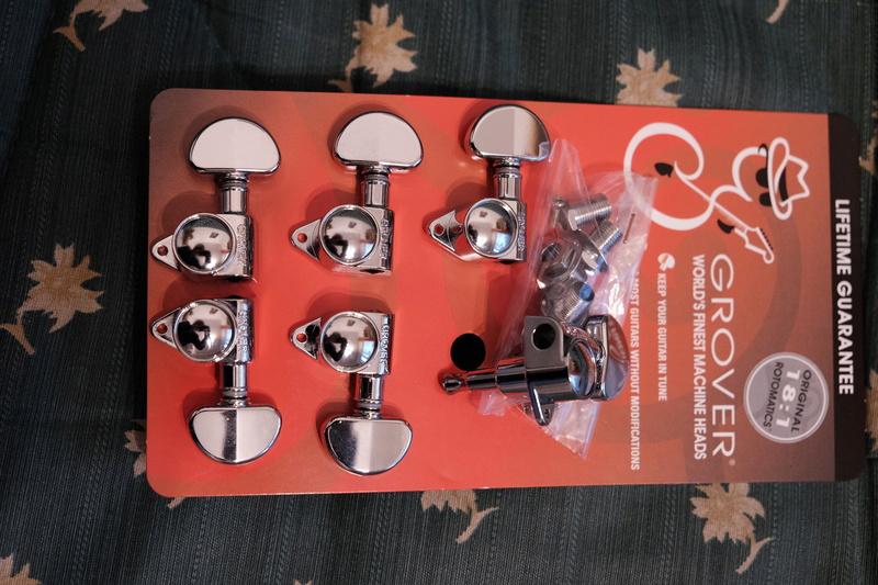Vendue , mécaniques Grover rotomatic 102 chrome 18:1 Grover12