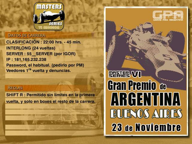 Masters Series 6ta Edición (MOD55) - Buenos Aires 55 Bsas5511