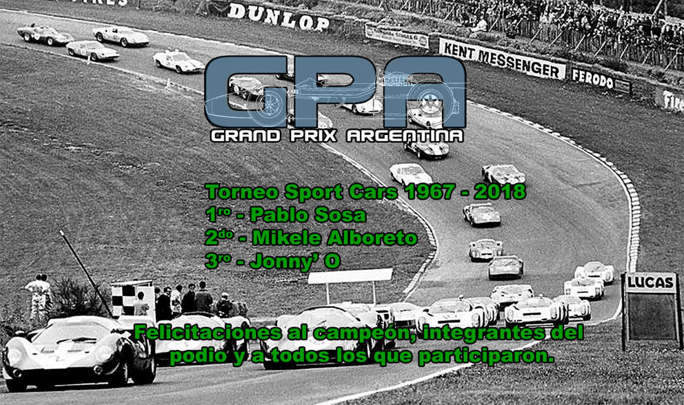 Torneo Sport Cars 1967 - 2018 - Resultado Result14