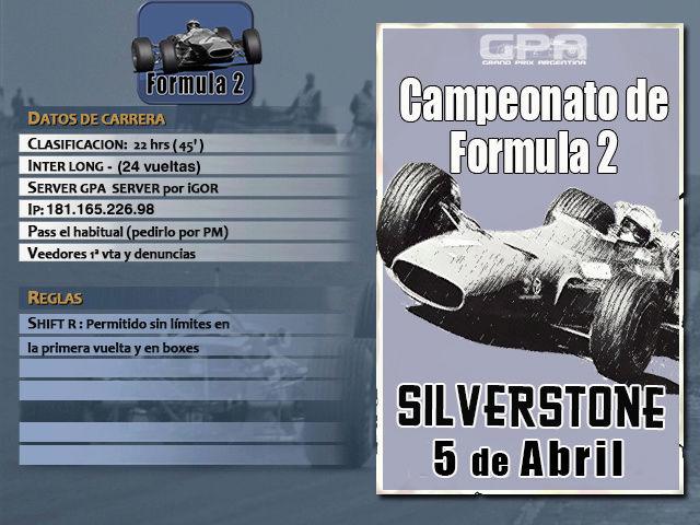 Torneo F2 1967 - 2018 - Silverstone Silver11