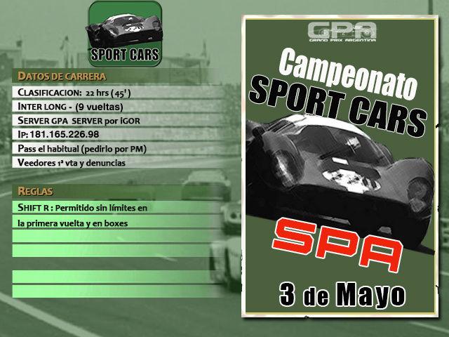 Torneo Spor Cars 1967 - 2018 - Spa 67 (Nuevo) Spa_6710