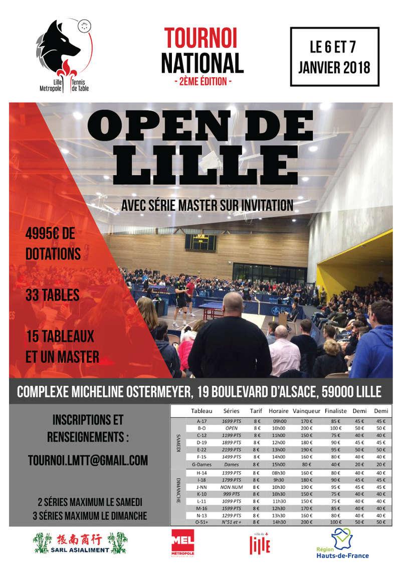 2ème édition de l'Open de Lille - 6 et 7 janvier 2018 Affich11