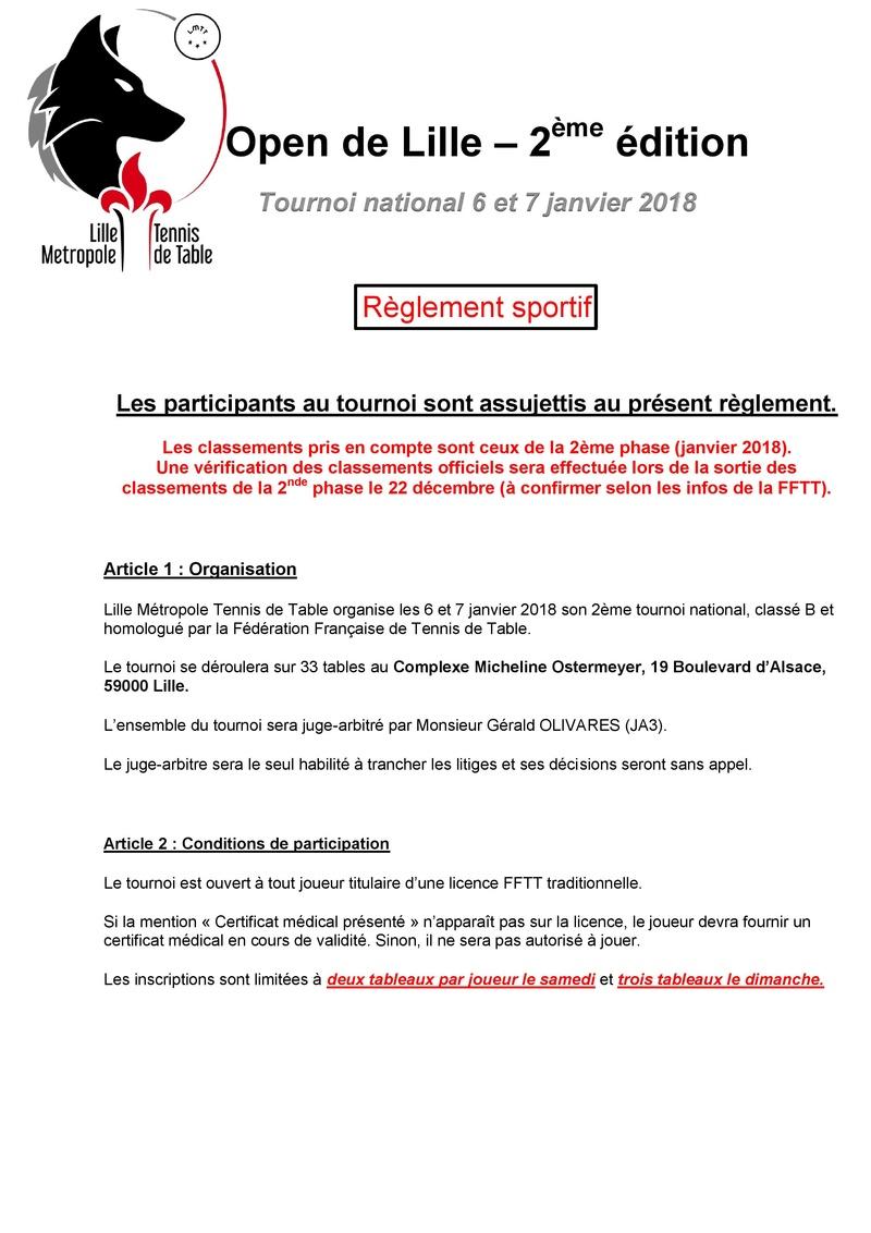 2ème édition de l'Open de Lille - 6 et 7 janvier 2018 Ryglem12