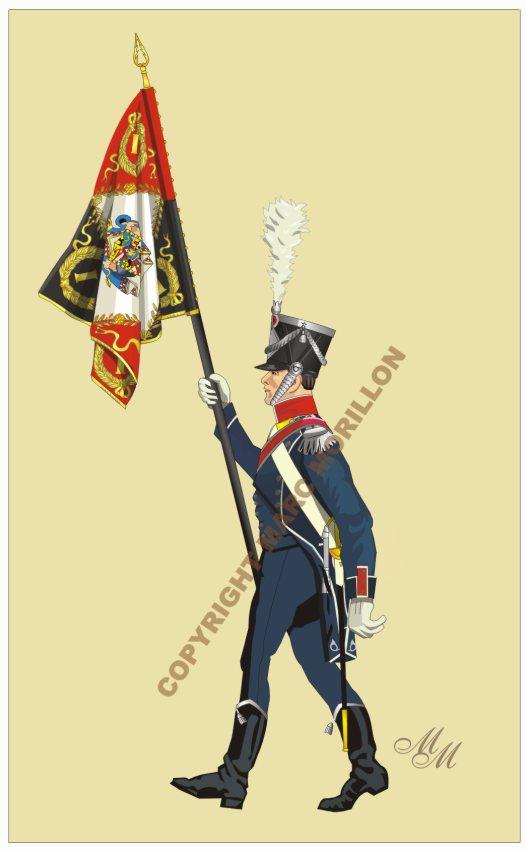 Drapeau du 1er régiment d'infanterie légère napolitaine Drapea10