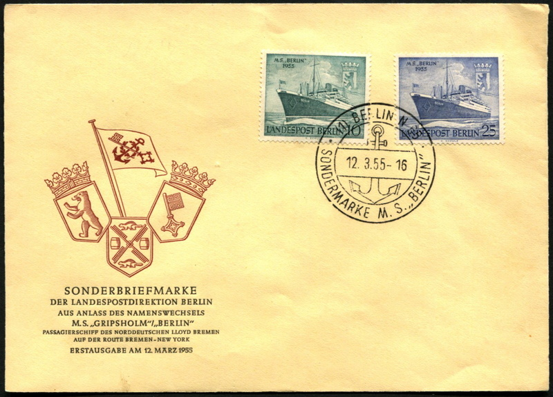 Amtliche FDC der Berliner Magistratsverwaltung 126-1210