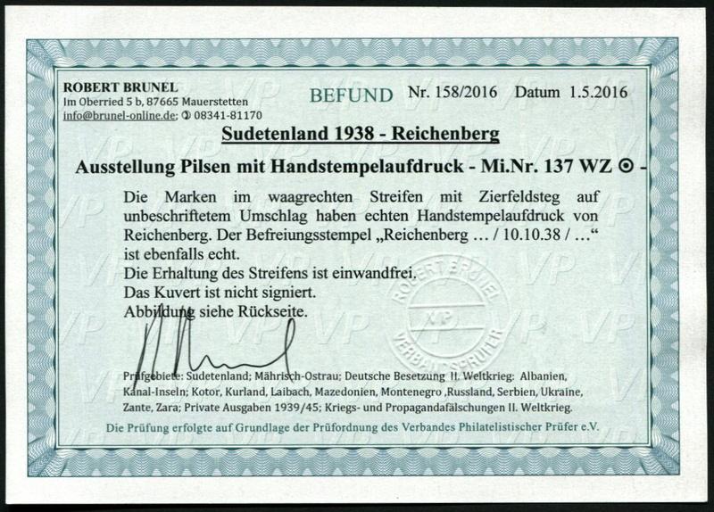sudetenland - Sudetenland - Ausgabe für Reichenberg 137_wz11