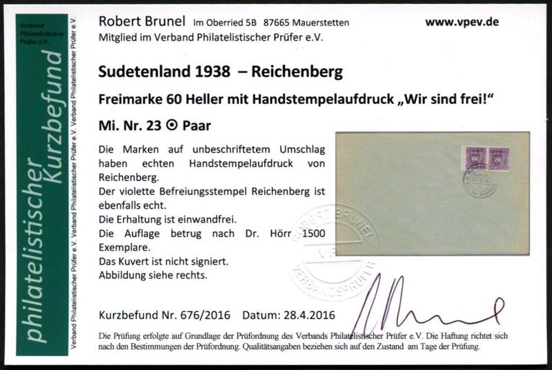 sudetenland - Sudetenland - Ausgabe für Reichenberg 23_ran11