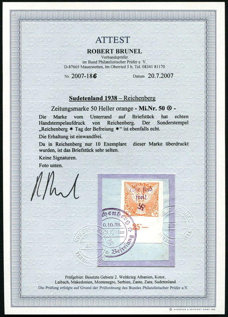 sudetenland - Sudetenland - Ausgabe für Reichenberg 50_bri11