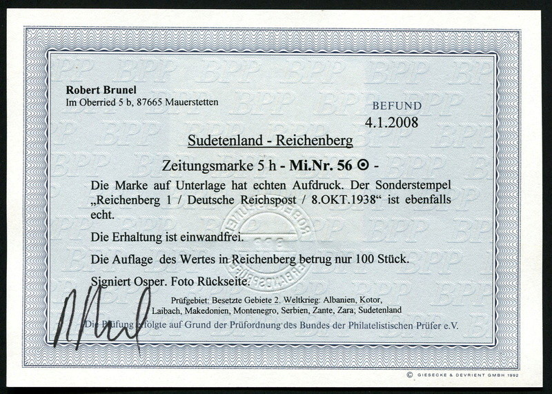 sudetenland - Sudetenland - Ausgabe für Reichenberg 56_auf10