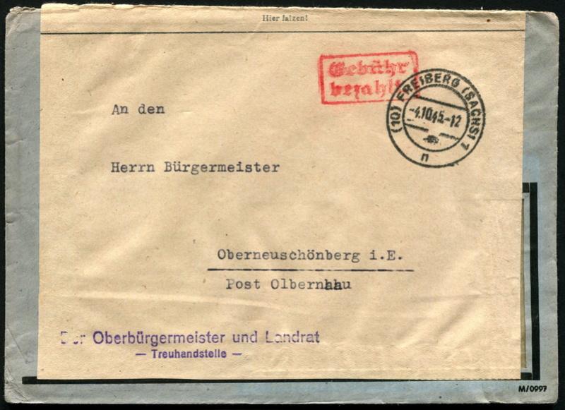 Ostsachsen (OPD Dresden) -Sowjetische Besatzungszone- - Seite 14 Gebyhr15