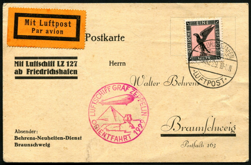 LZ 127 Orientfahrt 1929 Lz_12710